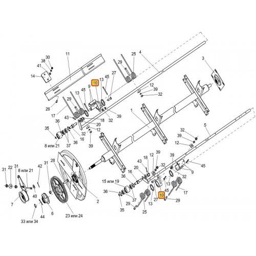 Опора граблины КИС 0203102В (3шт на мотовило)