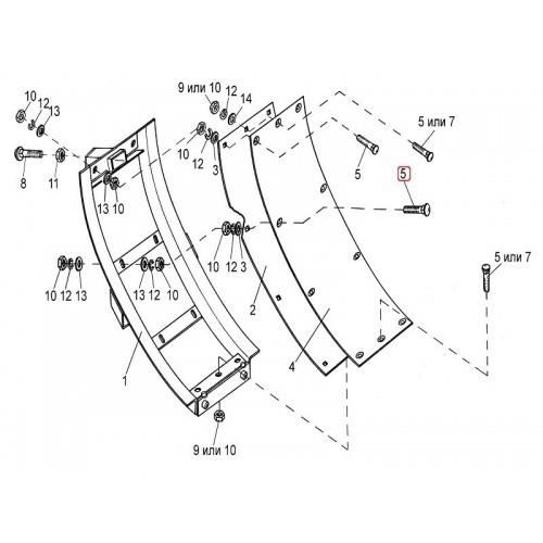 Болт специальный ПКК 0138605А (6 шт)