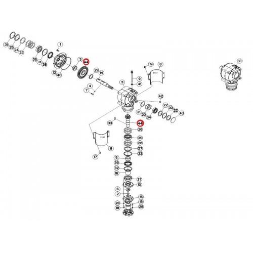 Вал-шестерня и зубчатое колесо 16/47 56654920