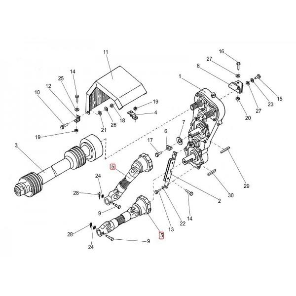 Вал карданный телескопический (привод вальцов) ПКК 0145000