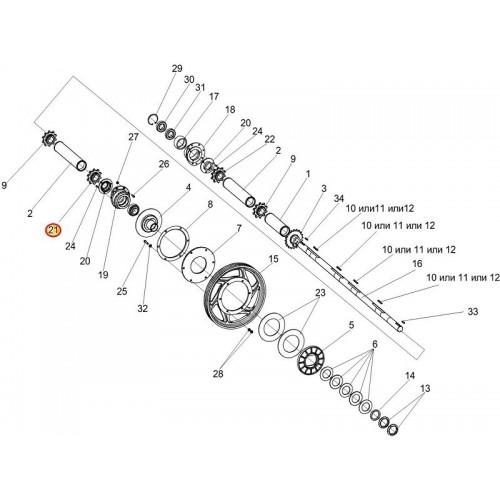 Звездочка КЗК-12-1803602