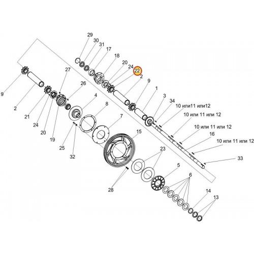Звездочка КЗК-12-1803602-01